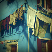 Blue Shirt Prints - Burano - laundry Print by Joana Kruse