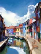 Burano Canal Print by Tom Griffithe