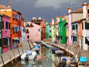 Old Houses Metal Prints - Burano colours Metal Print by Paul Cowan