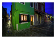 Houses Greeting Cards Prints - Burano II - Italy Print by Marco Hietberg