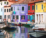 Stormy Weather Posters - Burano in dramatic light Poster by Paul Cowan