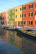 Bright Colors Metal Prints - Burano Italy 1 Metal Print by Rebecca Margraf