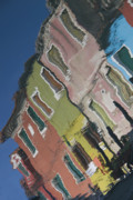 Water Reflections Photos - Burano Italy Reflections by Elvira Butler
