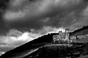 Gloomy Photo Framed Prints - Burg Ehrenfels Framed Print by Justin Albrecht