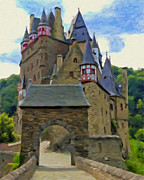 Europe Painting Acrylic Prints - Burg Eltz Castle Acrylic Print by Michael Pickett