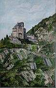 Rhine Valley Posters - Burg Katz St.Goarshausen - Loreley Poster by Antje Wieser