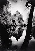 Shadowy Framed Prints - Burg Kriebstein Framed Print by Simon Marsden