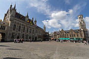 Belgium Photos - Burg Square in Bruges Belgium by Louise Heusinkveld