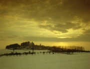 Winter Snow Landscape Prints - Burg Stolpen Print by Stolpen