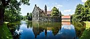 Panoramic Framed Prints - Burg Vischering Framed Print by David Bowman