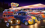 Ford Coupe Prints - Burger Bobs Print by Bruce Kaiser