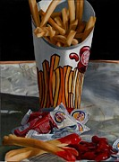 Junk Painting Posters - Burger King Value Meal No. 5 Poster by Thomas Weeks