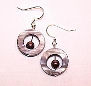 Handcrafted Jewelry - Burgundy Bullseye by Kelly DuPrat