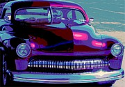 50 Merc Posters - Burgundy Merc Poster by Chuck Re