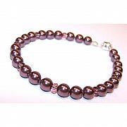 Handcrafted Jewelry - Burgundy Pearl Bracelet by Kelly DuPrat
