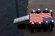 Casket Photos - Burial At Sea Ceremony Onboard Aircraft by Stocktrek Images