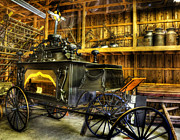 Horse And Wagon Photos - Burial Hearse Wagon Coach - vintage - nostalgia - western - antique  by Lee Dos Santos