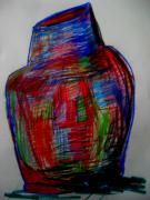 Impression Drawings - Burial Urn by Allen n Lehman