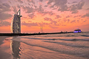 Star Pyrography Framed Prints - Burj Al Arab Dubai Framed Print by Anusha Hewage