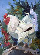 Rooster Paintings - Burma Beauty by Sandra Smith-Dugan
