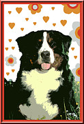 Burmese Mountain Dog Print by One Rude Dawg Orcutt