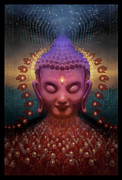 Buddha Digital Art Posters - Burmese Step Poster by George Atherton