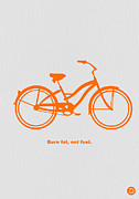 Vintage Bicycle Art - Burn Fat not Fuel by Irina  March