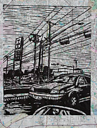 Austin Drawings Originals - Burnet road by William Cauthern