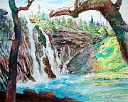 Actors Painting Originals - Burney Falls by John Norman Stewart