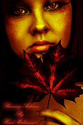 Burning-autumn Print by Hend