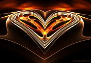 Burning Love Prints - Burning Desire Print by Sandra Bauser Digital Art