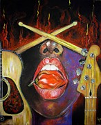 Jazz Band Pastels - Burning Gums by Yxia Olivares