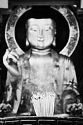 Burning Incense In A Buddhist Temple Sha Tin China Hong Kong Print by Joe Fox