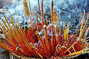 Spirituality Art - Burning incense by Sami Sarkis