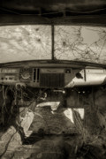 Wrecked Cars Prints - Burning Memories Print by Wayne Stadler