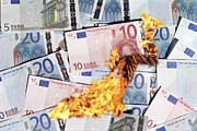 Inflation Prints - Burning Money, Conceptual Image Print by Victor De Schwanberg