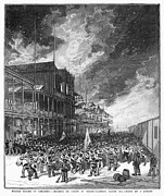 Unrest Photo Framed Prints - Burning Of Colon, 1885 Framed Print by Granger