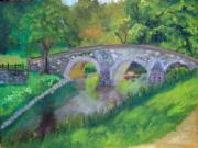 Antietam Originals - burnside bridge at Antietam Md.  by Rebecca Jackson