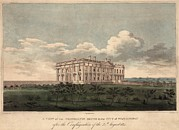 Burnt Out White House. A View Print by Everett