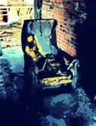 Burnt Digital Art - Burntout Chair. by Terry Collett