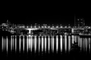 Repetition Prints - Burrard Street Bridge  Print by Barbara  White