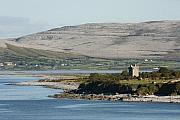 Burren Photo Acrylic Prints - Burren Castle in a limestone landscape ireland Acrylic Print by Pierre Leclerc