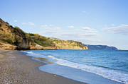 Costa Prints - Burriana Beach in Nerja Print by Artur Bogacki