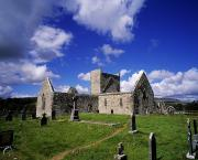 Historic Villages Prints - Burrishoole Friary, Co Mayo, Ireland Print by The Irish Image Collection 