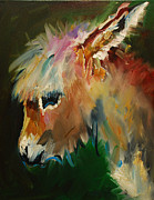 Donkey Painting Metal Prints - Burro Donkey Metal Print by Diane Whitehead