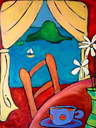 Washington State Skagit County Paintings - Burrow Island Anacortes by Carla MacDiarmid