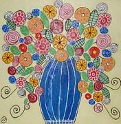 Burst Of Flowers Print by Elizabeth Langreiter
