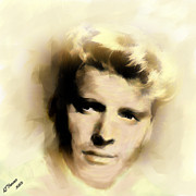 Hollywood Legend Prints - Burt Lancaster Print by Arne Hansen