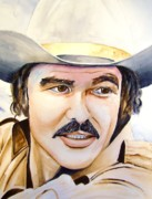 Movie Art Paintings - Burt Reynolds by Brian Degnon