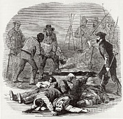 Slavery Prints - Burying The Dead After John Browns Print by Photo Researchers